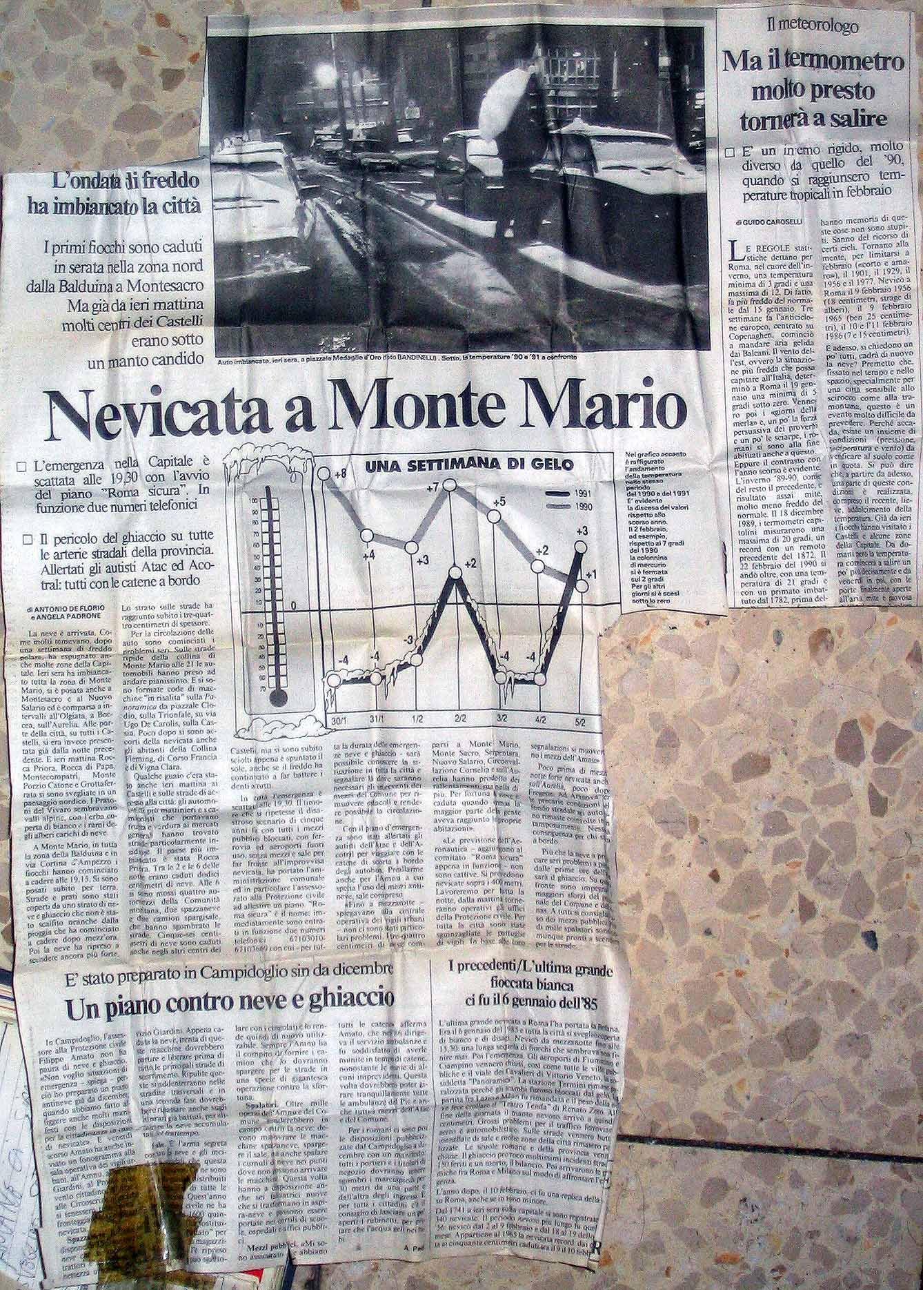 You are browsing images from the article: La neve del 5 febbraio 1991 nei Castelli Romani